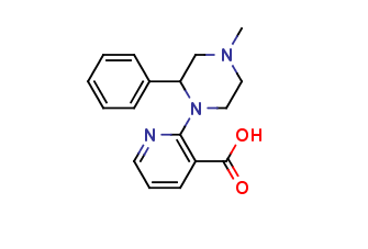 1-(3-Carboxy-2-pyridyl)-4-methyl-2-phenylpiperazine