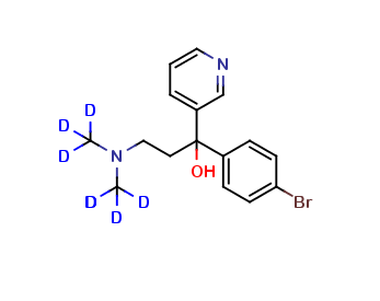 α-(4-Bromophenyl)-α-[2-(dimethyl-d6-amino)ethyl]-3-pyridinemethanol