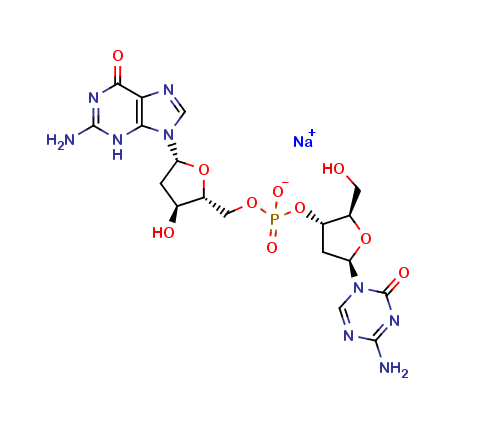 2'-Deoxy-5-azacytidylyl-(3'5')-2'-deoxy-guanosine Sodium Salt