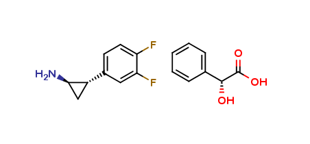(1R,2S)-2-(3,4-Difluorophenyl)cyclopropanamine (2R)-Hydroxy(phenyl)ethanoate
