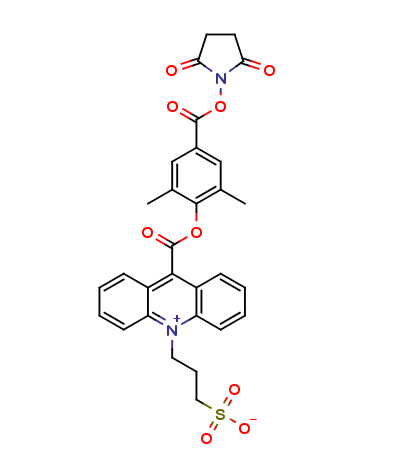 2',6'-Dimethylcarbonylphenyl-10-sulfopropylacridinium-9-carboxylate 4'-NHS Ester