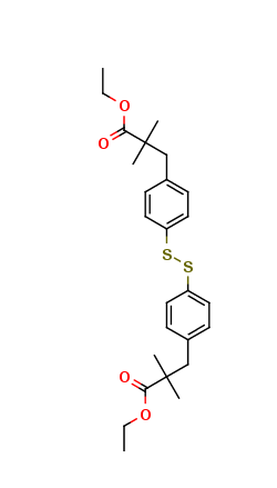 4-[(2-Methyl-2-ethoxycarbonyl)propyl]phenyl Disulfide