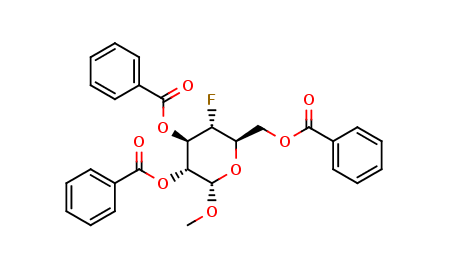 Methyl 4-Deoxy-4-fluoro-α-D-glucose Tribenzoate
