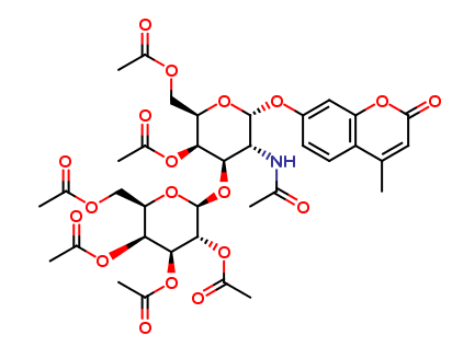 4-Methylumbelliferyl 2-Acetamido-2-deoxy-3-O-(-β-D-galactopyranosyl)-α-D-galactopyranoside Hexaacetate