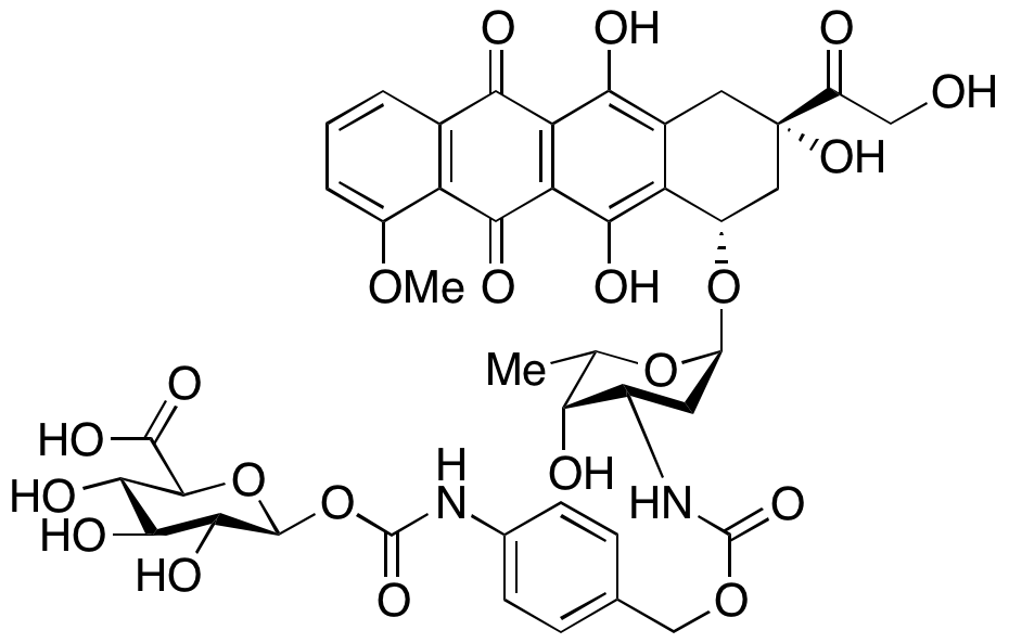 3-N-Carboxylic Acid 1-β-D-Glucuronide-[4-(methyl)phenyl]carbamate Ester Doxorubicin