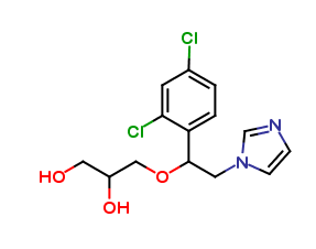 3-[1-(2,4-Dichlorophenyl)-2-(1H-imidazol-1-yl)ethoxy]-1,2-propanediol(Mixture of Diastereomers)