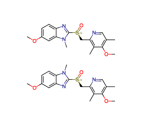 N-Methyl Esomeprazole (Mixture of isomers with the methylated nitrogens of imidazole)