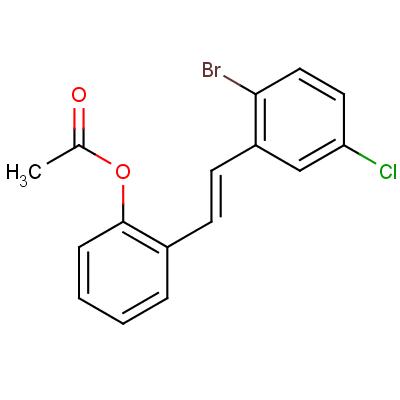 (E)-2-Acetoxy-2'-bromo-5'-chlorostilbene