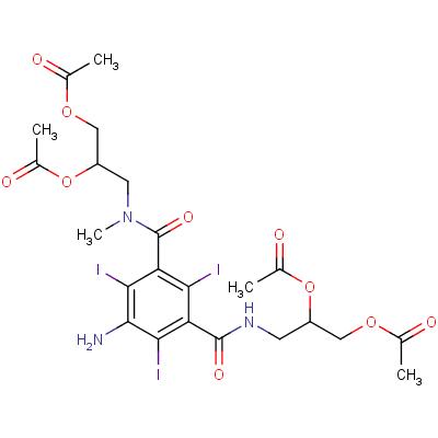 5-Amino-N,N'-bis[2,3-bis(acetyloxy)propyl]-2,4,6-triiodo-N-methyl-1,3-benzenedicarboxamide