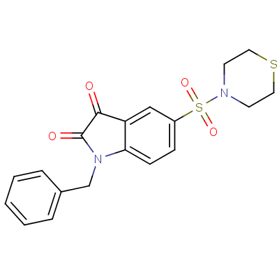 1-Benzyl-5-thiomorpholinosulfonyl Isatin