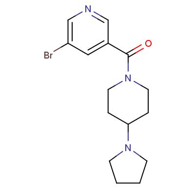 (5-Bromopyridin-3-yl)(4-(pyrrolidin-1-yl)piperidin-1-yl)methanone