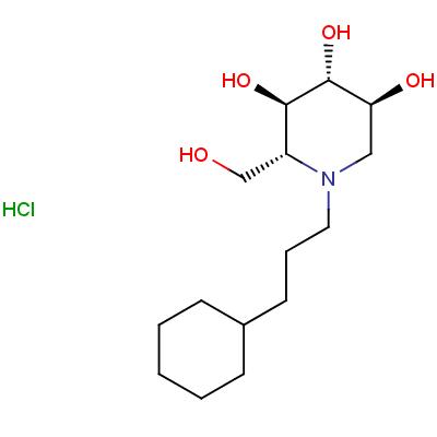 N-Cyclohexylpropyl Deoxynojirimycin, Hydrochloride