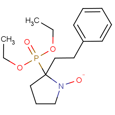2-(Diethoxyphosphoryl)-2-phenethyl-3,4-dihydro-2H-pyrrole 1-Oxide