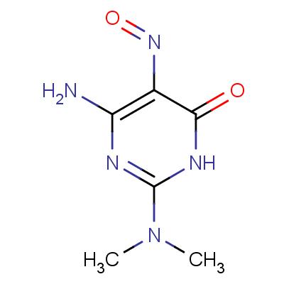 2-Dimethylamino-4-hydroxy-5-nitroso-6-aminopyrimidine