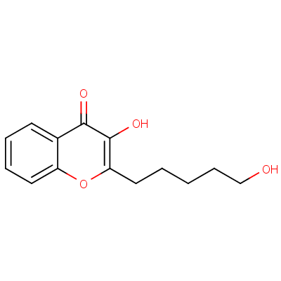 3-Hydroxy-2-(5-hydroxypentyl)chromen-4-one