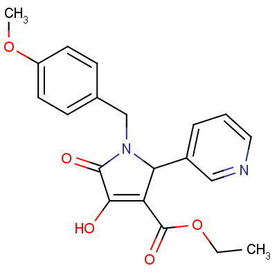 1-(4-Methoxybenzyl)-3-hydroxy-4-ethoxycarbonyl-5-(3-pyridyl)-3-pyrrolin-2-one
