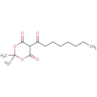5-Octanoyl-2,2-dimethyl-1,3-dioxane-4,6-dione