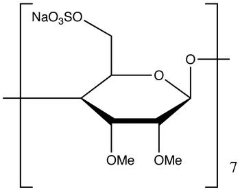 Heptakis(2,3-di-O-methyl-6-O-sulfo)-β-cyclodextrin Heptasodium Salt