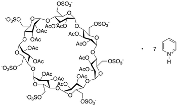 Heptakis(6-O-sulfo)-β-cyclodextrin Tetradecaacetate Heptapyridium Salt