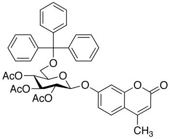 4'-Methylumbelliferyl 2,3,4,-Tri-O-acetyl-6-O-trityl-β-D-glucopyranoside