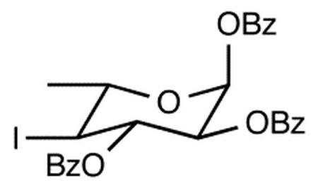 1,2,3-Tri-O-benzoyl-4,6-dideoxy-4-iodo-α-L-glucopyranose